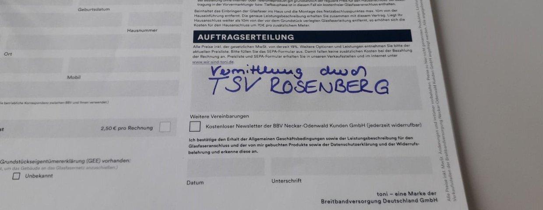 Glasfaser für Rosenberg - Unterstützt euren TSV